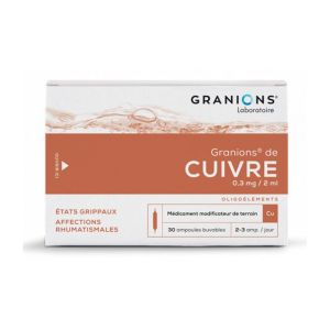 GRANIONS DE CUIVRE, solution buvable - 30 ampoules 2 ml