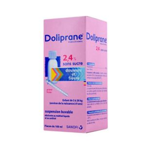 Doliprane 2.4% Sans Sucre, suspension buvable - Flacon 100 ml