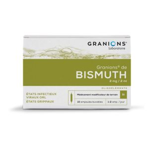 GRANIONS DE BISMUTH ( Bi), solution buvable -10 ampoules de 2ml