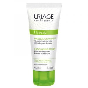 URIAGE Hyséac Masque Gommant - Peaux à Imperfections, Mixtes à Grasses - T/100ml