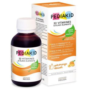 PEDIAKID 22 Vitamines et Oligo Elements 250ml - Sirop d' Agave + Prébiotiques