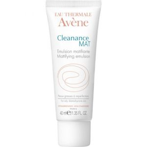 AVENE CLEANANCE MAT - Emulsion Matifiante - Soin du Visage - Peaux grasse à imperfections - T/40ml