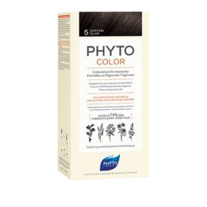 PHYTOCOLOR 5 Chatain Clair - Kit de Coloration Permanente Enrichie en Pigments Végétaux