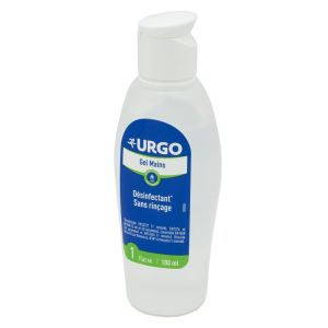 URGO Gel Mains 100ml - Gel Hydroalcoolique Désinfectant - Action Bactéricide, Levuricide, Virucide