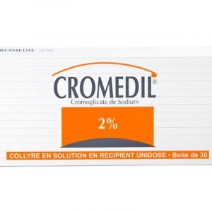 Cromedil 2 %, collyre en solution- 30 unidoses de 0,3ml