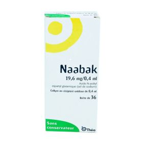 Naabak collyre, 36 unidoses 0,4 ml