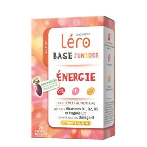 LERO BASE JUNIOR ENERGIE Réduction de la Fatigue Complément Alimentaire à Base d' Oméga 3, Vitamines