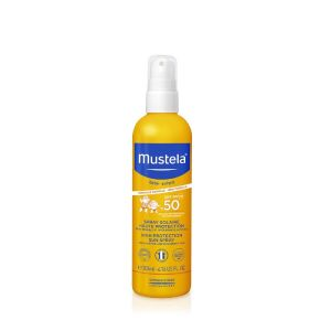 MUSTELA SOLAIRE Spray Solaire Haute Protection SPF50 200ml - Peau Sensible, Intolérante