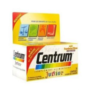 CENTRUM JUNIOR - Multi-vitamines - Goût Framboise Citron - Bte/30 cp - PFIZER