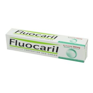 Fluocaril Bifluoré 250 mg Menthe, gel dentifrice - Tube 125 ml