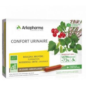 ARKOFLUIDES Confort Urinaire BIO - Bruyère, Busserole, Bouleau, Ortie - Innovation UltraExtract - Bt