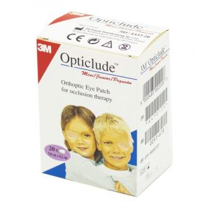 OPTICLUDE MINI JUNIOR 5 x 6.2 cm - Pansement Orthoptique Occlusif - Bte/20 - 3M SANTE