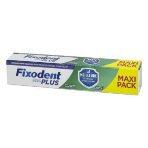 FIXODENT Pro Plus Duo Protection MAXI PACK : Anti Bactérien + Anti Particules - T/57g