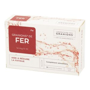 GRANIONS DE FER, solution buvable - 30 ampoules 2 ml