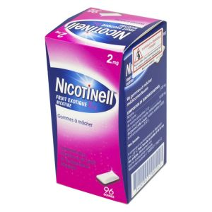 NICOTINELL 2mg Fruit exotique 96 gommes à mâcher