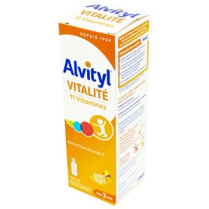 ALVITYL VITALITE FORME EQUILIBRE - Solution Buvable Multi Vitaminée 11 vitamines - Sirop Goût Fruité