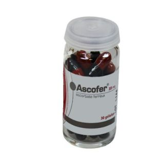ASCOFER 33 mg, 30 gélules