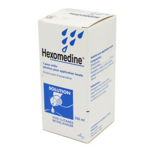 Hexomedine 0,01%, solution pour application locale - Flacon 250ml