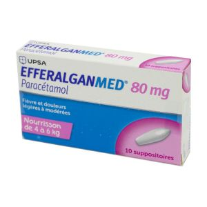 Efferalganmed 80 mg - 10 suppositoires
