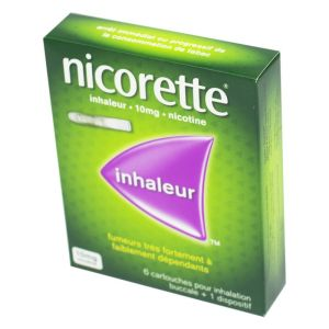 Nicorette Inhaleur 10 mg, 6 cartouches + 1 dispositif