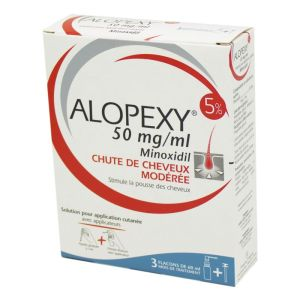 Alopexy 5% 50mg/ml, solution cutanée - 3 Flacons de 60 ml