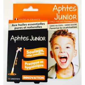 CLIC and GO APHTES JUNIOR Dès 6 Ans - 12 Unidoses - BIOPHARME