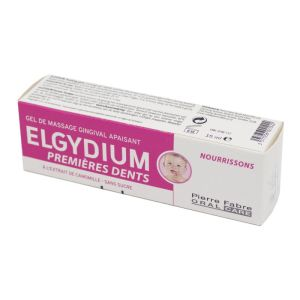 ELGYDIUM Premières Dents 15ml - Gel de Massage Gingival Apaisant sans Sucre