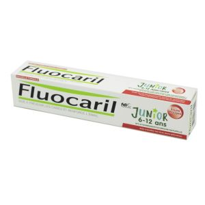 FLUOCARIL JUNIOR 6 à 12 Ans - Gel Dentifrice Fluoré Fruits Rouges 75ml - Caries, Email