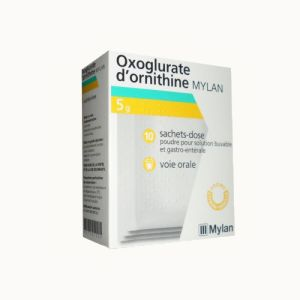 OXOGLURATE D'ORNITHINE MYLAN 5 g, poudre -10 sachets