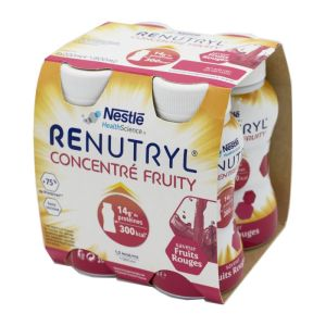 RENUTRYL CONCENTRE FRUITY Fruits Rouges 4x 200ml - Dénutrition - 300 kcal / 14g Protéines