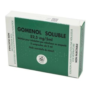 Gomenol Soluble, solution pour inhalation - 5 ampoules de 5 ml