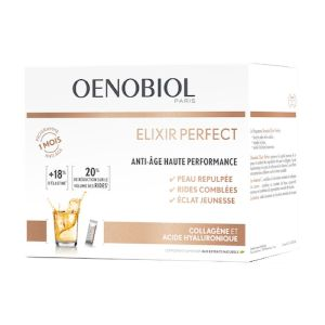 OENOBIOL Elixir Perfect 30 Sticls Anti-Age Haute Performance - Collagène, Acide Hyaluronique