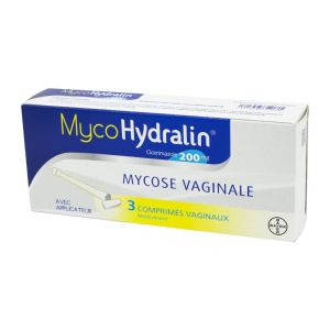 MYCOHYDRALIN 200 mg, 3 comprimés vaginaux avec applicateur