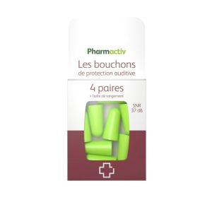 PHARMACTIV Les Bouchons de Protection Auditive 4 paires