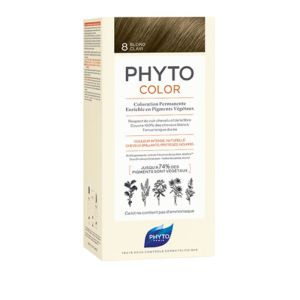 PHYTOCOLOR 8 Blond Clair - Kit de Coloration Permanente Enrichie en Pigments Végétaux