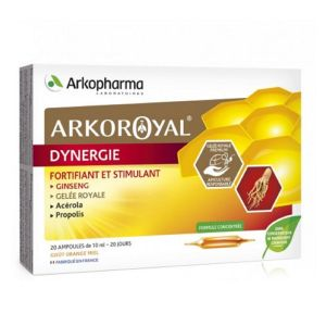 ARKOROYAL DYNERGIE 20 Ampoules - Fortifiant et Stimulant - Apiculture Responsable