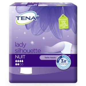 TENA LADY SILHOUETTE Nuit  M (Medium) Tour de Hanches 75 à 100 cm - Sous Vêtement/Culotte Absorbant