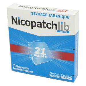 Nicopatchlib 21 mg, dispositif transdermique transparent - B/7