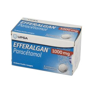 Efferalgan 1000 mg, fruits rouges - 8 comprimés effervescents