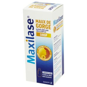 MAXILASE alpha-amylase, sirop - Flacon 200ml - Grand Modèle