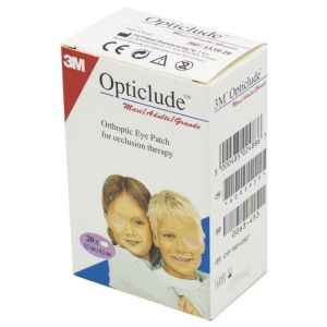 OPTICLUDE Adulte Enfant Maxi 5.7 x 8.2 cm - Pansement Orthoptique Occlusif - Bte/20 - 3M SANTE