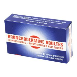 BRONCHODERMINE Adultes, suppositoires - Boite de 10