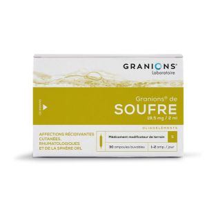 GRANIONS DE SOUFRE, solution buvable - 30 ampoules 2 ml