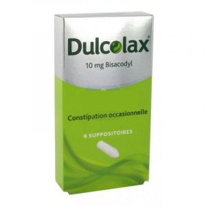 Dulcolax 10 mg, 6 suppositoires