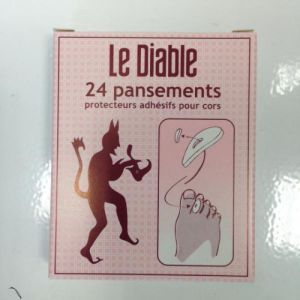 LE DIABLE 24 Pansements Protections Cors 16 x 25 mm - Bte/24 - SODIA