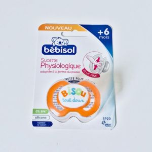 BEBISOL Sucette SP20 Physiologique +6 Mois Silicone Anti Irritations - Bte/1