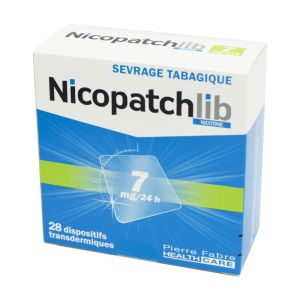 Nicopatchlib 7mg, dispositif transdermique transparent - B/28