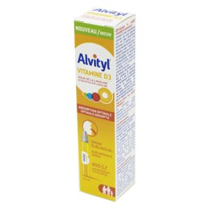 ALVITYL VITAMINE D3 Spray Sublingual 10ml - Défenses Immunitaires Dès 3 Ans