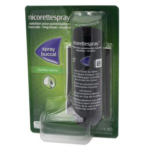 Nicorettespray menthe fraîche, solution buccale - 1 spray 13,2ml