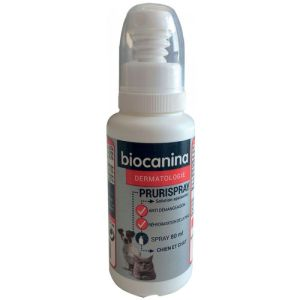 BIOCANINA DERMATOLOGIE PRURISPRAY - Solution Calmante Anti Démangeaisons sans Alcool - Fl/80ml